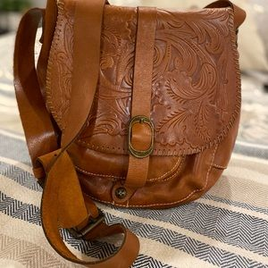 Patricia Nash leather crossbody purse.